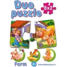 DOHÁNY Duo puzzle Na statku 8x2 dílky