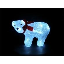Vánoční dekorace medvěd IP44 denní světlo,16LED