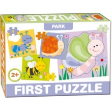 DOHÁNY Baby puzzle Na louce 4v1 (3-4 dílky)
