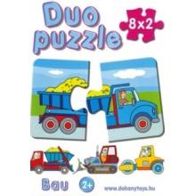DOHÁNY Duo puzzle Stavební stroje 8x2 dílky
