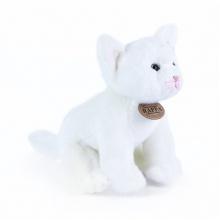 plyšová kočka bílá sedící, 24 cm (od 0 let)