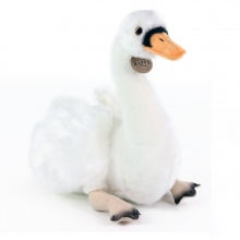 plyšová labuť sedící, 32 cm (od 0 let)