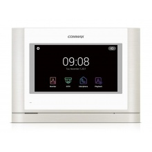 CDV-704MA bílý, handsfree AHD videotelefon s 7'' HD IPS displejem a dotykovými tlačítky, Commax