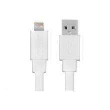 AVACOM MFI-120W kabel USB - Lightning, MFi certifikace, 120cm, bílá