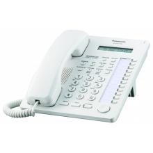 KX-AT7730NE Panasonic - systémový telefon s displ. 1x16 znaků pro KX-TA308/616/TES824/TEM824/TEA308/NS500, bílá