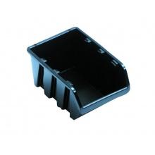 Box úložný stoh.NP4 118x78x60mm, černý