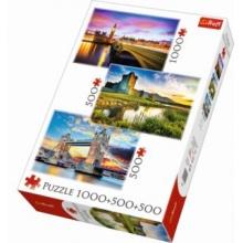 TREFL Puzzle Velká Británie a Irsko 1000 + 500 + 500 dílků