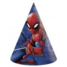 Papírový párty klobouček Spiderman 6 ks (od 1 roku)
