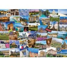 EUROGRAPHICS Puzzle Světoběžník, Francie 1000 dílků