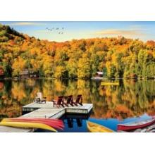 EUROGRAPHICS Puzzle Chata u jezera, Quebec 1000 dílků