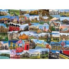 EUROGRAPHICS Puzzle Světoběžník, Velká Británie 1000 dílků