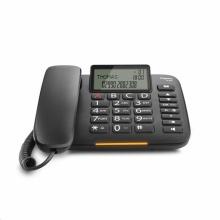 GIGASET-DL380-BLACK Gigaset - standardní telefon s displ., velké klávesy, handsfree, CLIP, napájení z tel. linky, černá