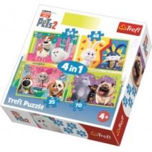 TREFL Puzzle Tajný život mazlíčků 2, 4v1 (35,48,54,70 dílků)