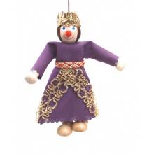 Dřevěná loutka Královna Alžběta