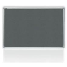 Filcová šedá tabule v hliníkovém rámu 180 x 90 cm