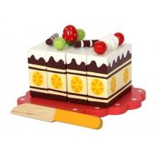 Small Foot Dřevěný narozeninový krájecí dort poškozený obal