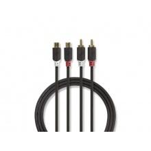 Kabel 2x CINCH konektor - 2x CINCH zdířka 5m NEDIS CABW24205AT50