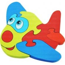Tradiční dřevěná hračka Dřevěné puzzle Letadlo 5 dílků