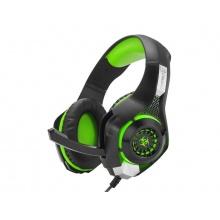 Sluchátka herní s mikrofonem CONNECT IT BIOHAZARD zelená