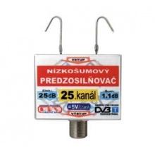 Anténní zesilovač DVB-T 25K 5V 25dB  F