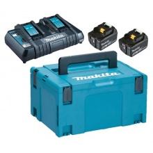 Sada AKU baterií a nabíječky MAKITA DC18RD + 2x BL1850B