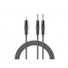 Kabel 2x JACK 6.35 mm konektor - 1x JACK 3.5 mm konektor 5m NEDIS COTH23200GY50