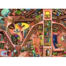 RAVENSBURGER Puzzle Absurdní knihovna 500 dílků