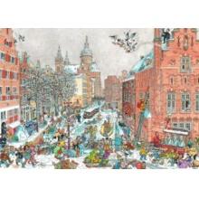 RAVENSBURGER Puzzle Města světa: Amsterdam v zimě 1000 dílků