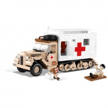 stavebnice II WW Ford V3000S Maultier Ambulance, 525 k, 2 f (od 7 let)