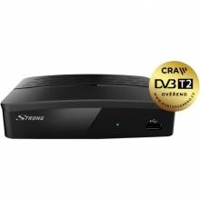 SRT 8209 HD Strong - DVB-T2 H.265, HEVC přijímač s možností nahrávaní, 1x SCART, 1x HDMI, 1x RJ45, USB
