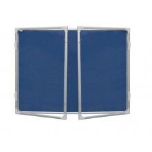 Vitrina 120x180cm,textilní vnitřek, mod2