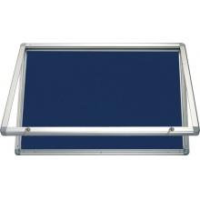 Horizontální vitrina 150x100 cm, zámek,filcový vnitřek - modrý