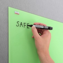 Skleněná magnetická tabule 45x45 cm - zelená