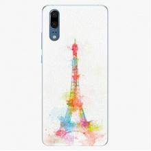 Silikonové pouzdro  - Eiffel Tower - Huawei P20