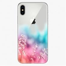 Silikonové pouzdro  - Rainbow Grass - iPhone X