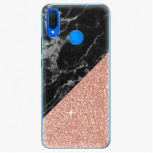 Plastový kryt  - Rose and Black Marble - Huawei Nova 3i