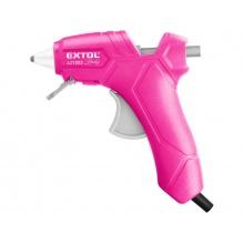 EXTOL pistole tavná lepící, 7,2mm, 25W, růžová