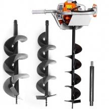 Motorový zemní půdní vrták 3,8kW + 3 vrtáky POWERMAT