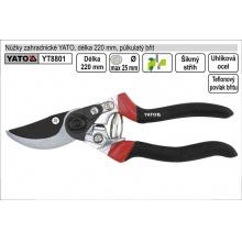 Nůžky zahradnické YATO 210mm půlkulatý břit