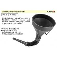 Trychtýř flexibilní plastový Yato