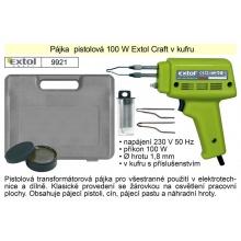 Pájka  pistolová 100 W Extol Craft v kufru