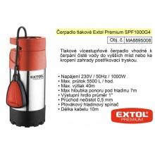 Čerpadlo elektrické nerezové tlakové 1100 W 5500 l / hod  Extol Premium 8895008