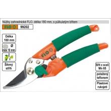 Nůžky zahradnické FLO 180mm půlkulatý břit