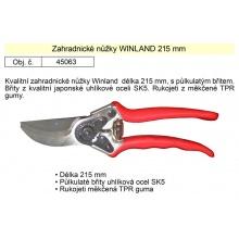 Nůžky zahradnické WINLAND 215 mm půlkulatý břit