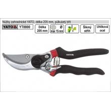 Nůžky zahradnické YATO 205mm půlkulatý břit