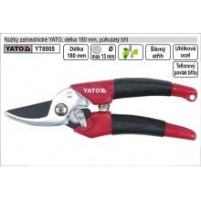Nůžky zahradnické YATO 175mm půlkulatý břit