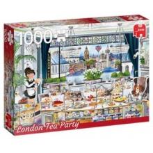JUMBO Puzzle Londýnský čajový dýchánek 1000 dílků