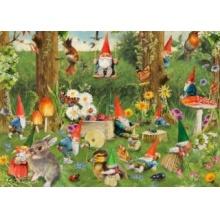 JUMBO Puzzle Trpaslíci na kraji lesa 1000 dílků