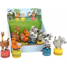 Small Foot Displej tančící zvířátko Jungle 12 ks