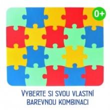 MALÝ GÉNIUS Pěnový koberec KLASIK 20 silný 0+ (mix-4)